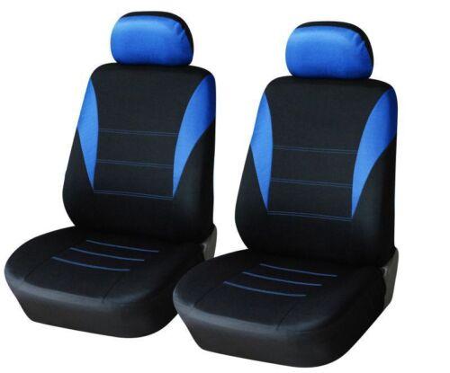 2x Blau Schwarz Sitzbezüge Schonbezüge Hochwertig Stoff für Seat Opel Peugeot