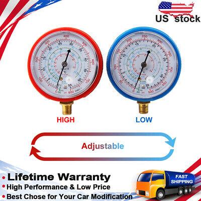 Car Dual Gauge R410A R134A R22 A//C Refrigerant Pressure Gauge Auto Hi//Low Tester