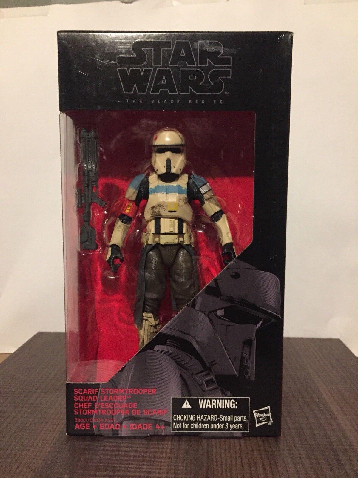 "Star Wars  28 Scarif Stormtrooper Squad Leader 6"" schwarz Series"