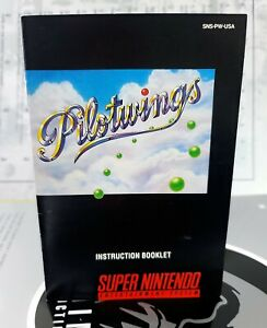 Pilotwings MANUAL ONLY SNES Super Nintendo Instruction Booklet