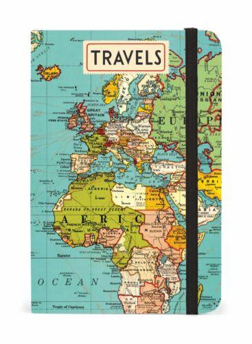256 Vintage Maps Cavallini Kleines Liniertes Taschen Notizbuch 10.2x15.2cm