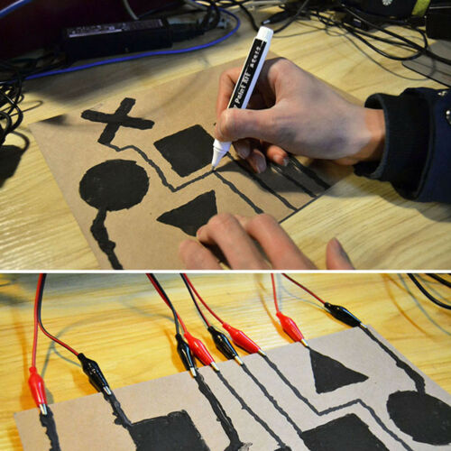Conductive Ink Pen Dry Fast Circuit DIY Draw Instantly Magical Tool Striking