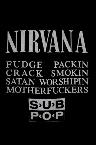 Original 1989 NIRVANA Bleach SUB POP T-Shirt vtg 8