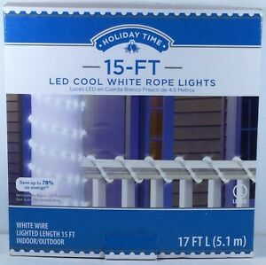 new arrival 277af e667d Details about Holiday Time 15ft LED Cool White Clear Rope Light  Indoor/Outdoor Wedding Party