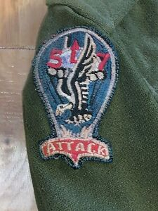 WWII-era-US-Army-THICK-wool-shirt-NAMED-517th-PIR-Airborne-Infantry-PATCH-ATTACK