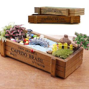 Kitchen Window Wooden Herb Box Planter Indoor Outdoor Garden Kit