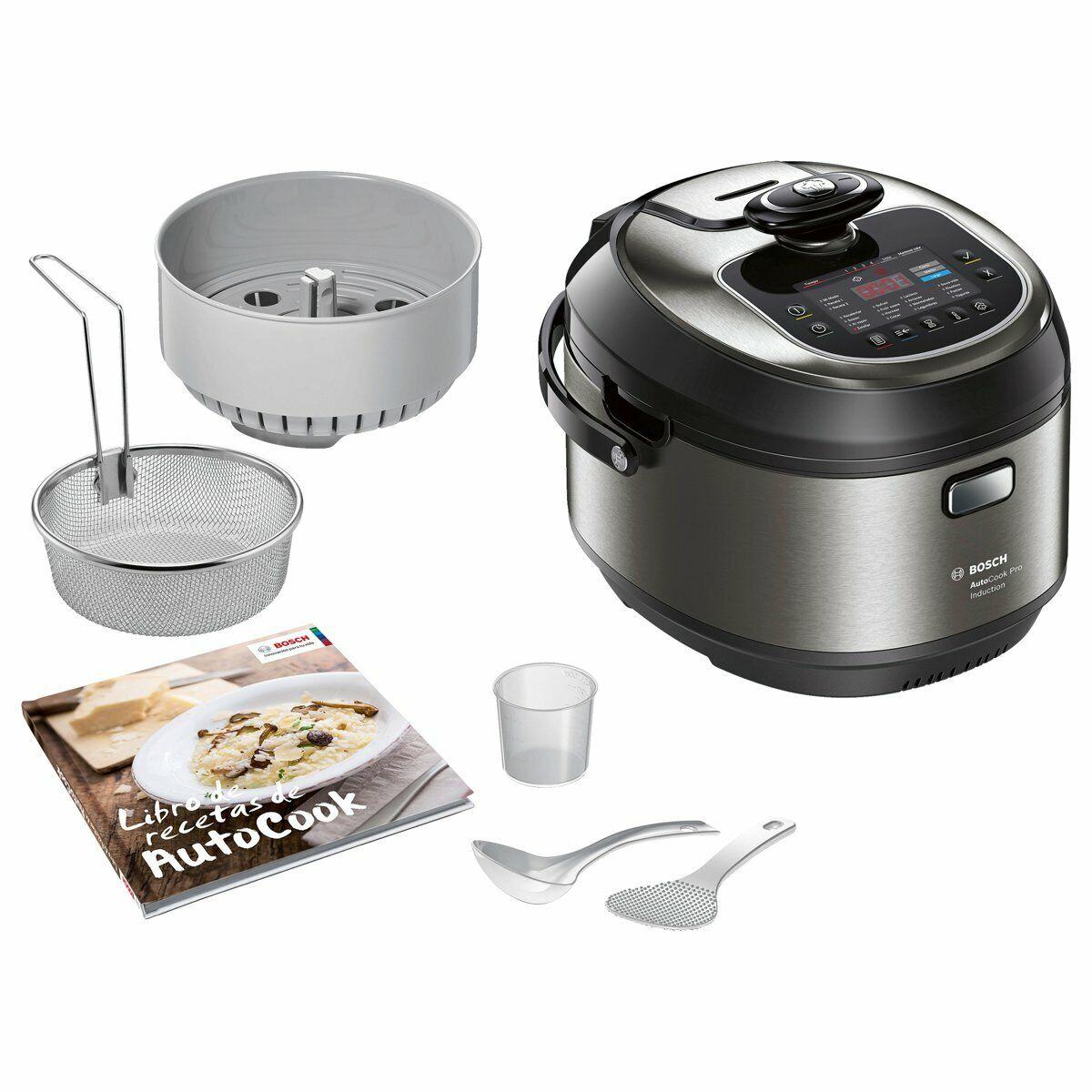 Bosch MUC88B68ES AutoCook - Robot de cocina multifunción, 1200 W, 5L, Induccion