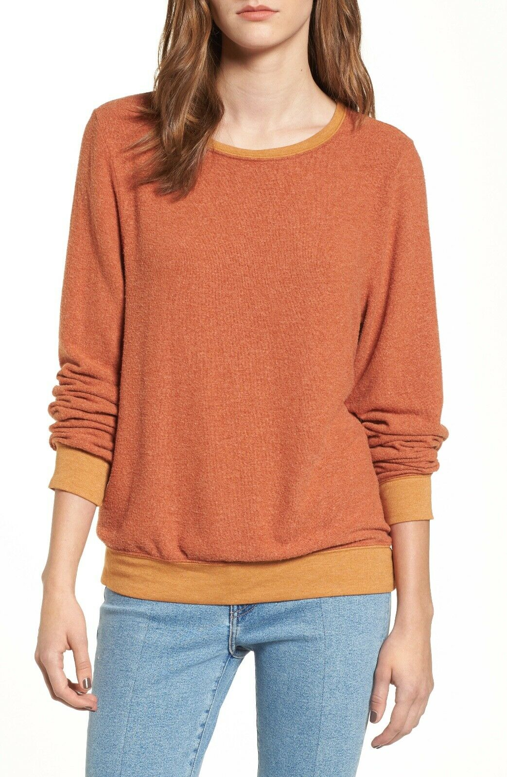 Wildfox Couture Baggy Beach Jumper Sweatshirt. color  Burnt orange. Sz  S
