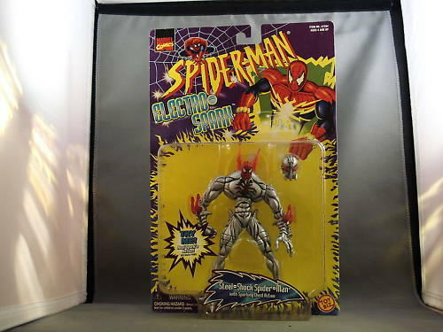 1997 Marvel Comics Spiderman Electro Spark Figure