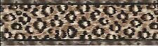 LEOPARD BROWN BLACK ANIMAL FUR PRINT AFRICAN JUNGLE WALLPAPER BORDER