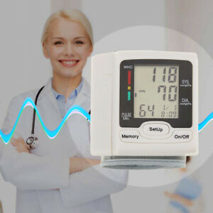 Details about Automatic Digital Wrist Blood Pressure Monitor BP Cuff  Machine Home Test Device