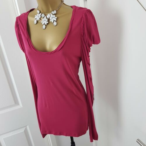 All Saints Size Top Sleeves Shirt Xs Long Raspberry Boat Neck ZnOX0wPk8N