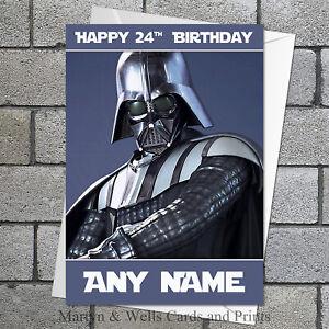 Star Wars Carte D Anniversaire Dark Vador 5x7 Pouces Personnalise Plus Enveloppe Ebay