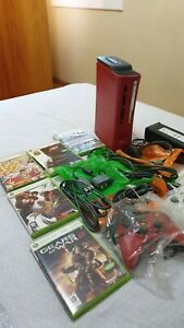 Microsoft Xbox 360 Elite Resident Evil 5 Limited Edition 120GB Red Console Rare