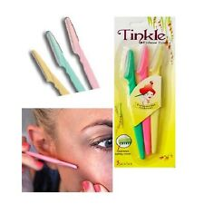 3x Pro Tinkle Eyebrow Razor Trimmer Shaper Shaver Hair Remover Set