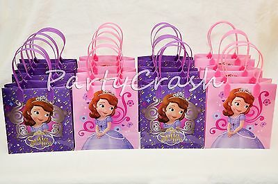12 Disney Sofia the First Party Favors Bags Goodie Loot Tote Candy Treats