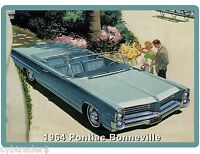 1964 Pontiac Bonneville Auto Refrigerator / Tool Box Magnet Gift Card Insert