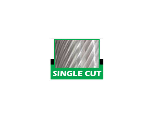 "SH-5L6 Flame Shape Pointed 1//2/"" Diameter Carbide Burr Single Cut"