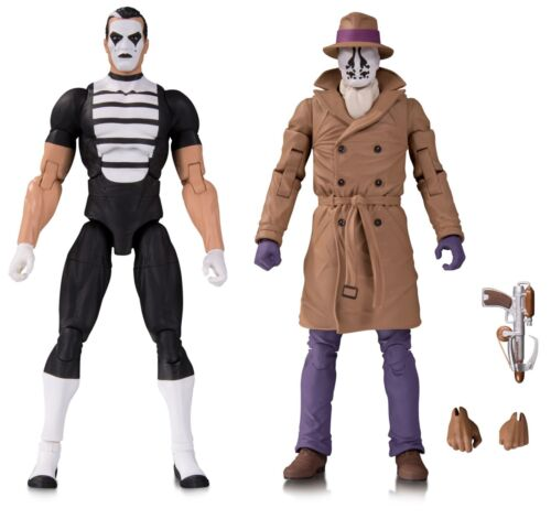 DC Watchmen Doomsday Clock Rorschach /& Mime Action Figure 2-Pack