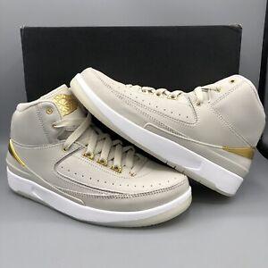 big sale 9d9a4 079fc Details about Nike Air Jordan Retro II BG Quai 54 Size 5y 866034 001 Gold  Off White DB III CDP