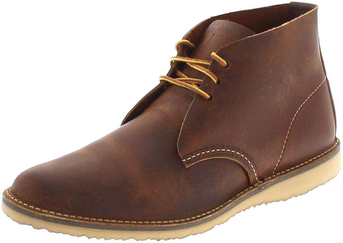 rouge Wing chaussures 3322 Weekender Chukka délaçage pour homme Marron
