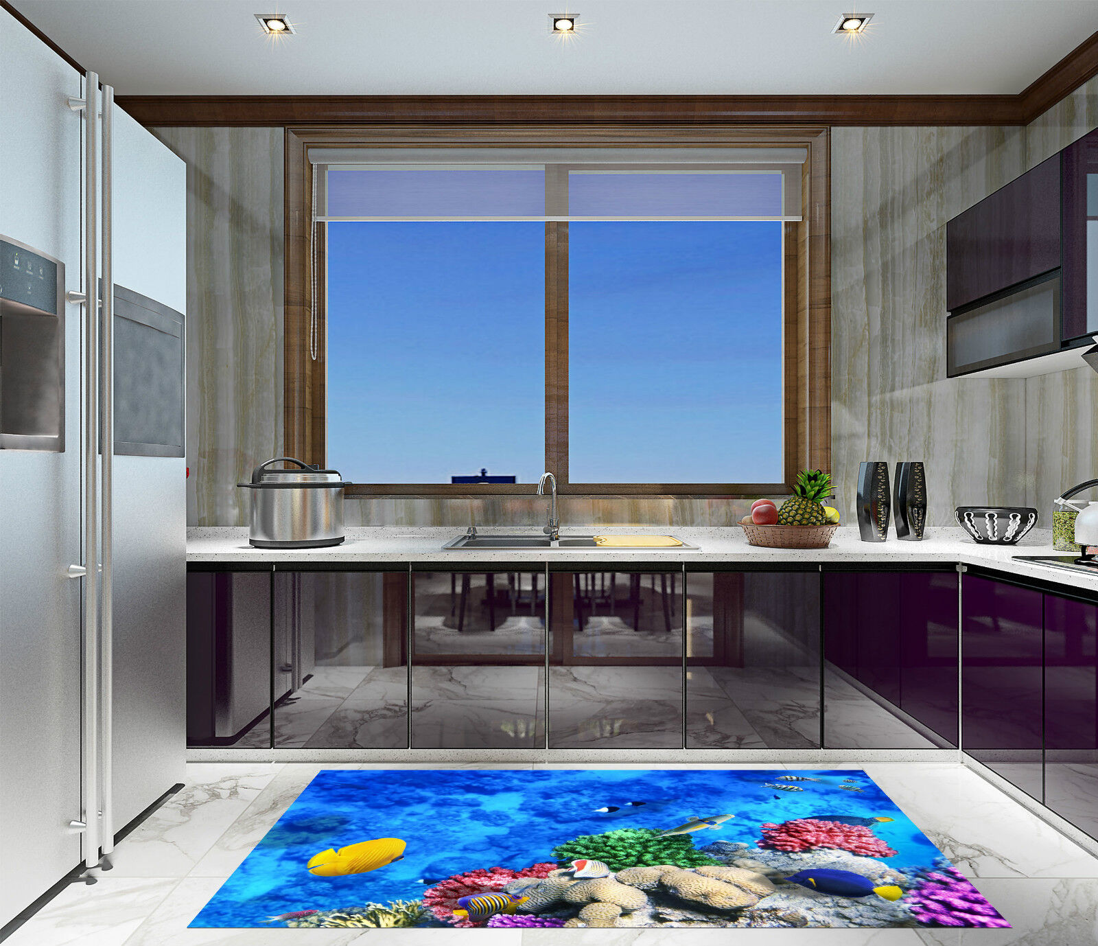 3D Beaux Fonds Fonds Beaux Marins 107 Décor Mural Murale De Mur De Cuisine AJ WALLPAPER FR f477a5