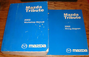 Original 2002 Mazda Tribute Shop Service Manual Wiring Diagram Set 02 Ebay