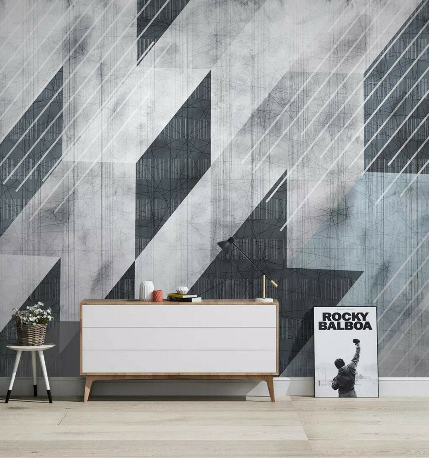 3D Fashion Grey View 44 Wall Paper Exclusive MXY Wallpaper Mural Decal Indoor AJ
