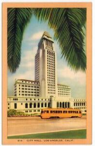 L-A-City-Hall-Los-Angeles-California-Dragnet-Adam-12-COLOR-LINEN-Useable-PC