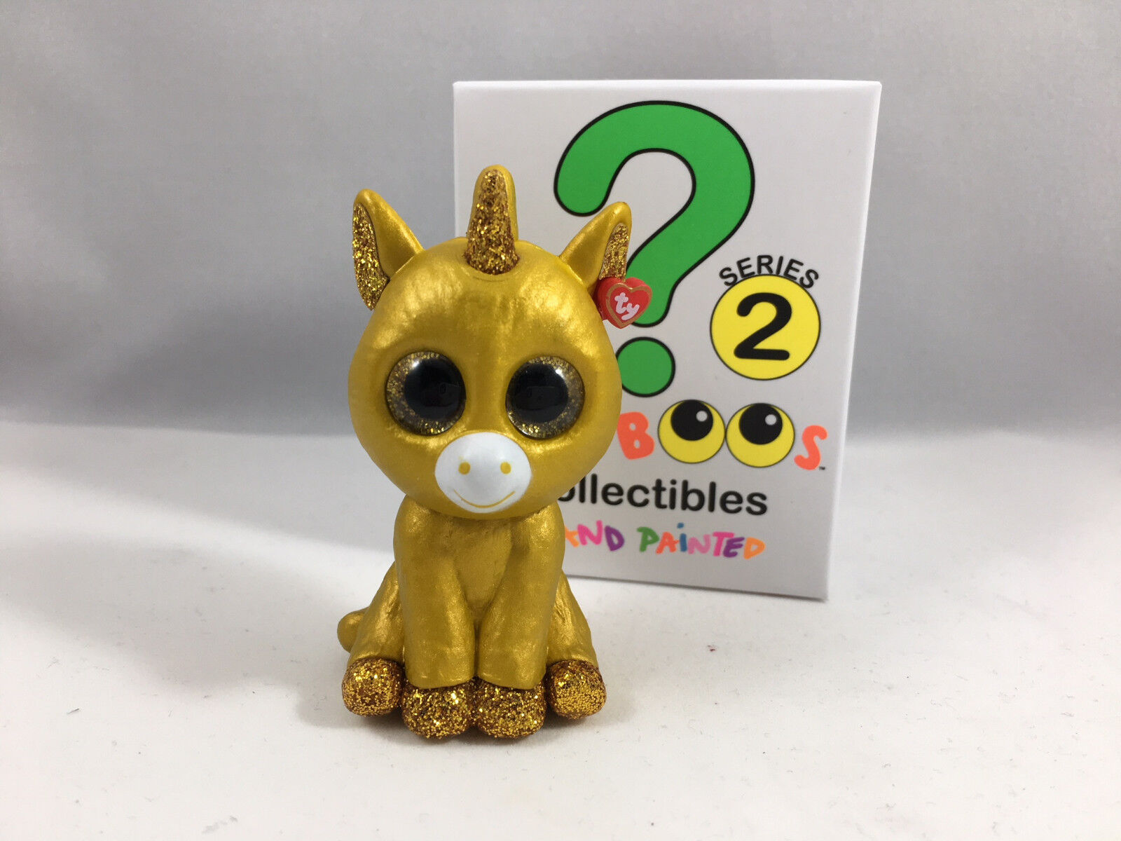 TY Beanie Boos Mini Boo Series 2 Figure - golden Unicorn Mystery Chaser (2 inch)