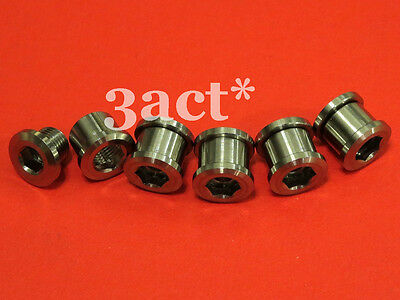 10 pcs Gr.5 Titanium/Ti Bolt & Nut for Crankset Chainring - 5 Bolts & 5 Nuts
