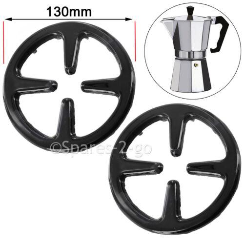 Small Gas Cooker Hob Stove Reducer Coffee Moka Trivet Pot Pan Stand 130mm x 2