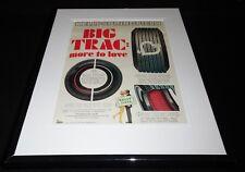 1968 Kelly Tires Spin Trac Framed 11x14 ORIGINAL Vintage Advertisement