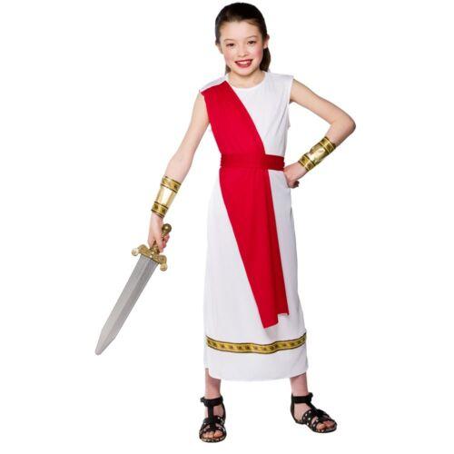 Enfant romaine fille fantaisie robe Costume Filles Déesse Antique livre semaine Âge 3-10