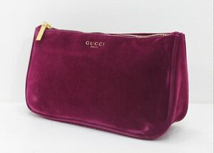 155ba8a46d82 Image is loading GUCCI-VELVET-MAKEUP-BAG-COSMETICS-POUCH