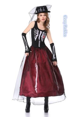 Beauty Bones Skeleton Costume 6-14 AU Ms