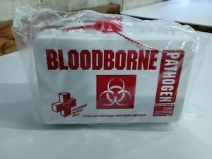 NEW First Aid Bloodborne Pathogen Spill Clean Up Kit OSHA Compliant Made in USA