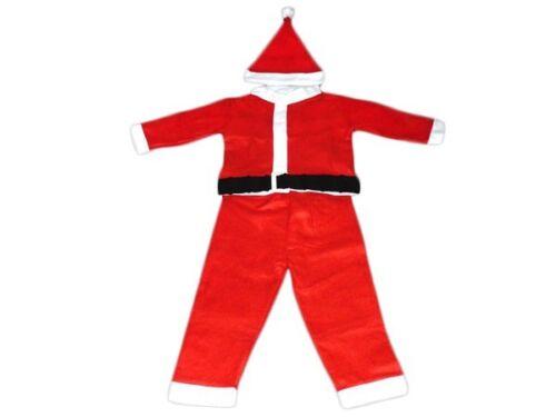 Weihnachtskostüm Weihnachten Kostüm Nikolaus Jungen mit Mütze 4-teilig 72//73