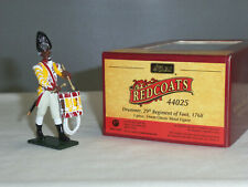 W Britain Collectible Toy Soldiers 44025 Redcoats Drummer 29th Regiment Of Foot