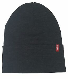 ea19815bf03c7 LEVIS RED TAB TURN UP BEANIE   BEANY WOOLY HAT STYLE NAME GEMMA ...