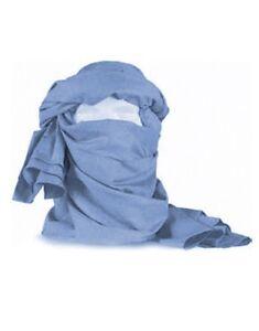 Cheche-coton-bleu-Onu-etat-neuf-chech-chech-shech-shech-foulard-echarpe