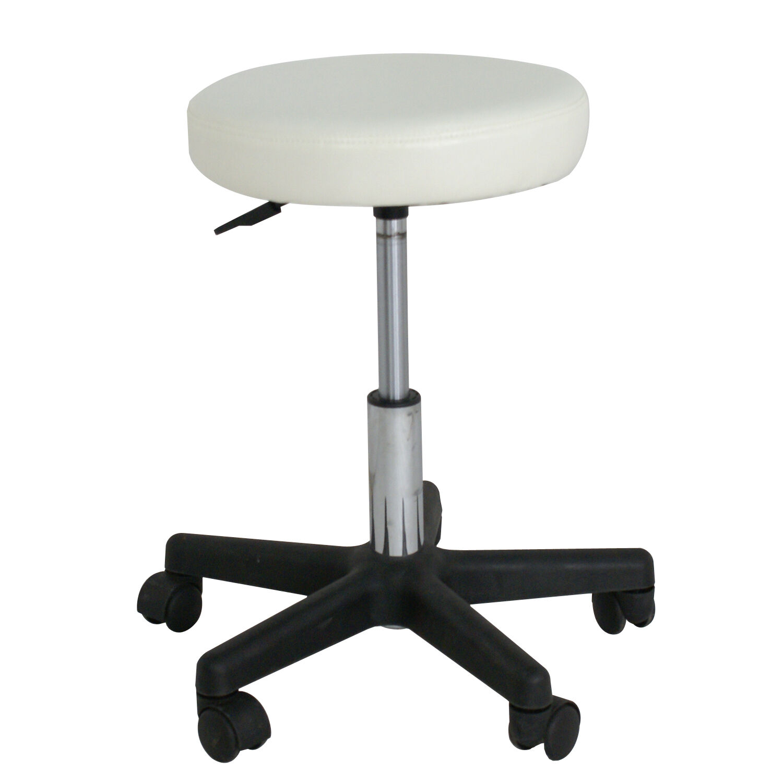 Adjustable Spa Salon Stools Swivel Chairs Facial Massage w/Wheels White Health & Beauty