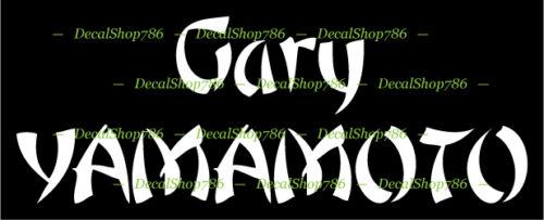 Outdoors Gary Yamamoto Fishing Baits /& Lures Vinyl Die-Cut Peel N/' Stick Decal