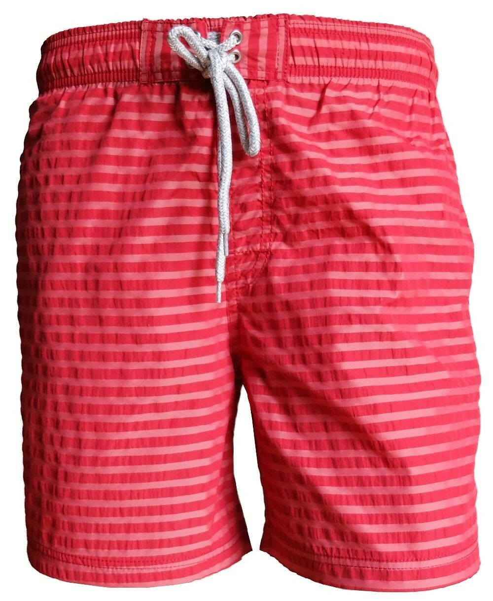 BAILEYS SWIM SHORT BEACH Streifendessin Gr. M bis 3XL in red