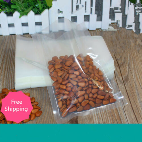 Transparent PET nylon Pouches flat poly bag Food storage seal vacuum 0.2mm