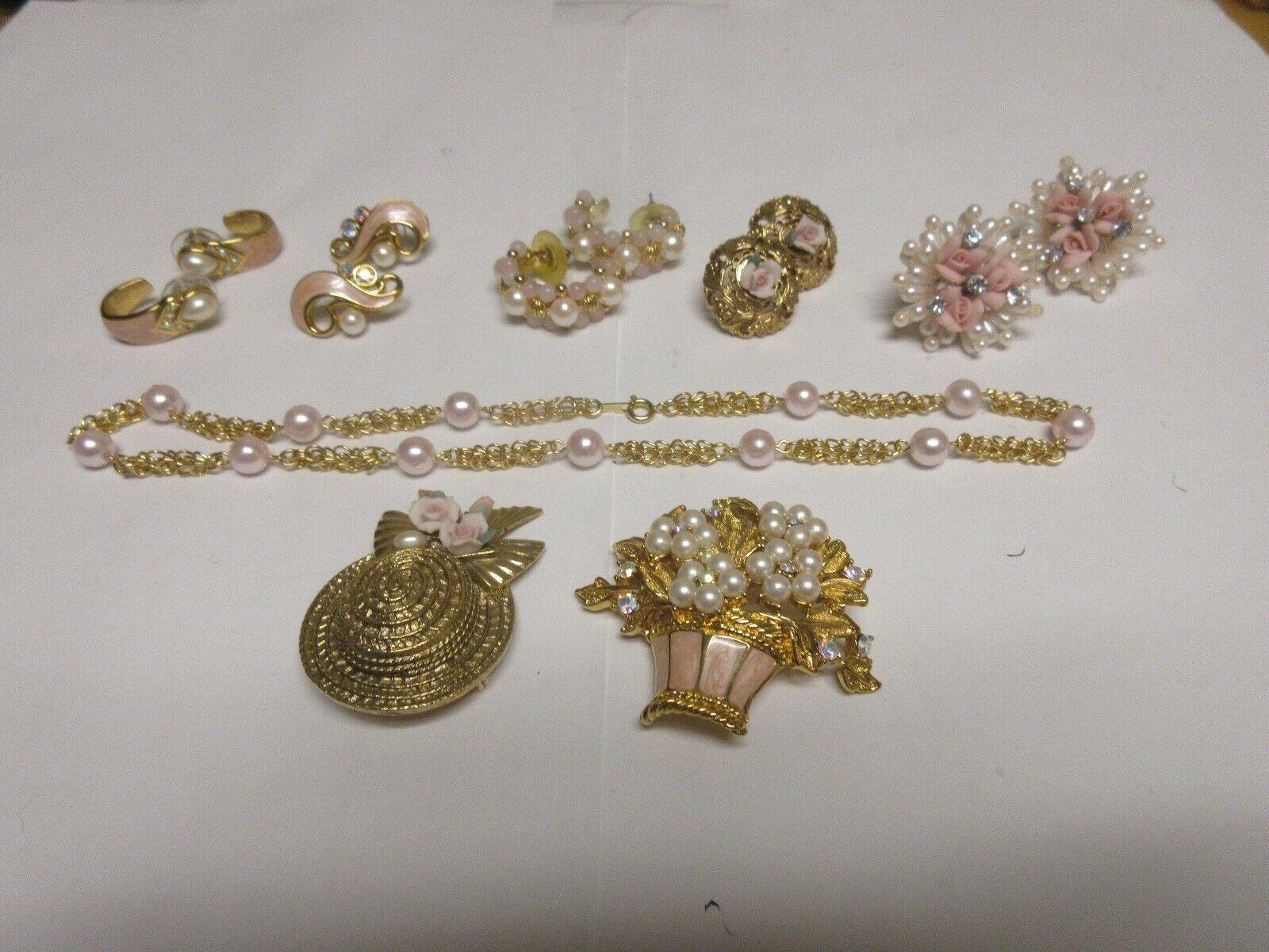 Costume Jewelry ,Vintage , TRIFARI , Neck , Ear , Pin