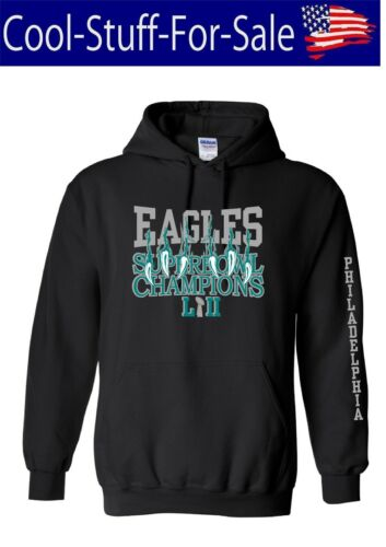 Philadelphia Eagles Superbowl 52 Claw Scratch Pullover Hooded Sweatshirt