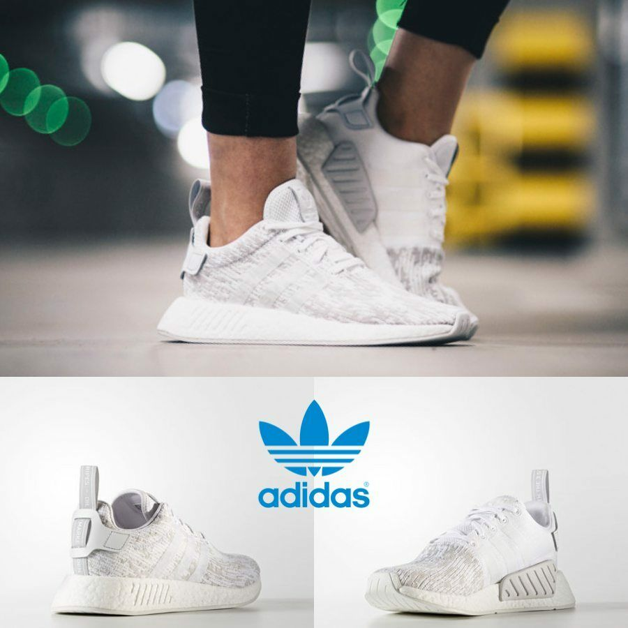 Adidas Grey Unisex Original NMD R2 Runner White White Grey Adidas BY8691 Size 4-11 Limited e828cd