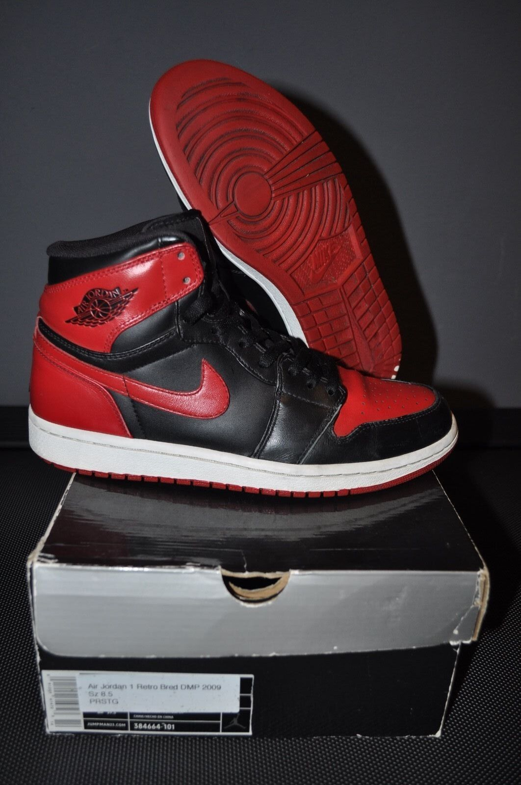 8fea42a575f Nike air jordan retro 1 dmp bred size 8.5 jumpman nqtcnw1630-Athletic Shoes
