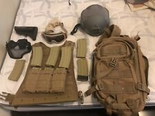 Airsoft Gear (Mags, Backpack, Chest Rig, Helmet, Goggles, Metal Mesh Mask)